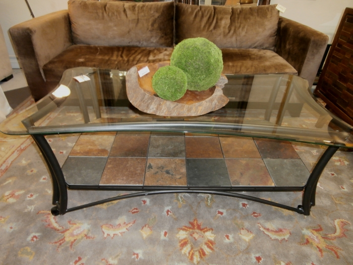 3413b473b6f17 Stone Glass Metal Coffee Table at The Missing Piece
