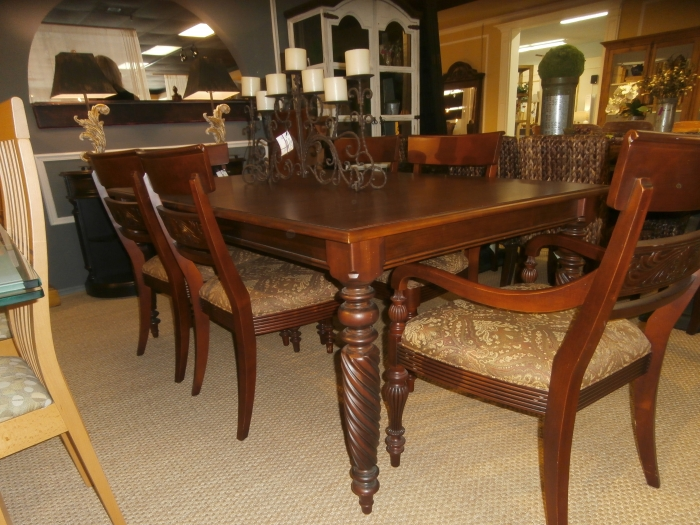 Home Ethan Allen Dining Table Chairs Pads Loading Images