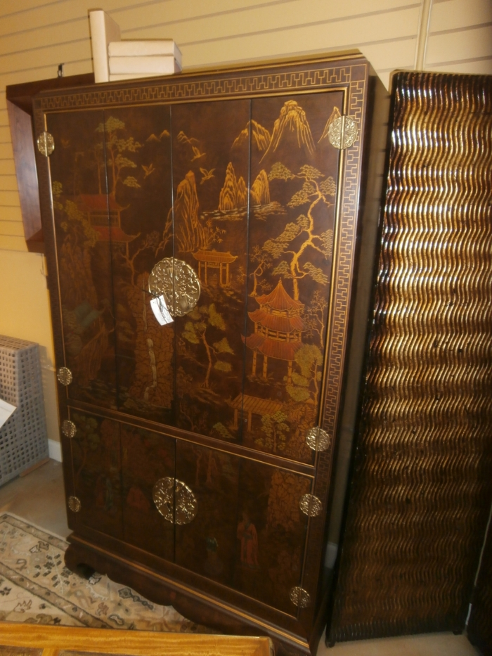 Henredon Asian Flare Armoire at The Missing Piece