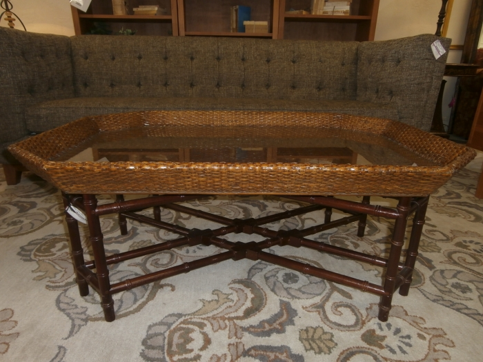 Rattan Amp Glass Coffee Table At The Missing Piece