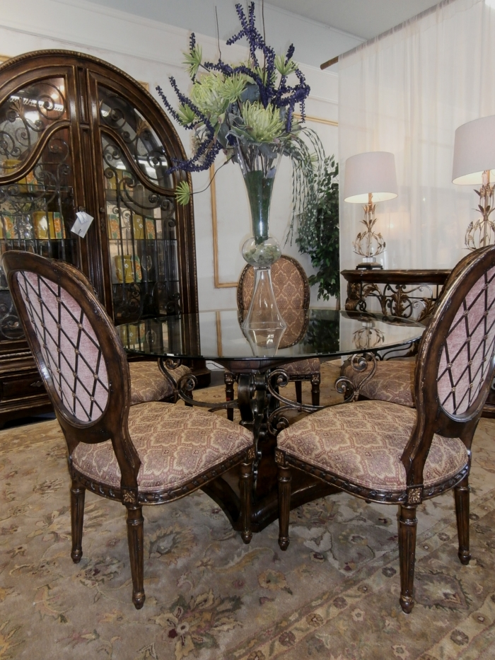 Marge Carson Dining Table Chairs At The Missing Piece