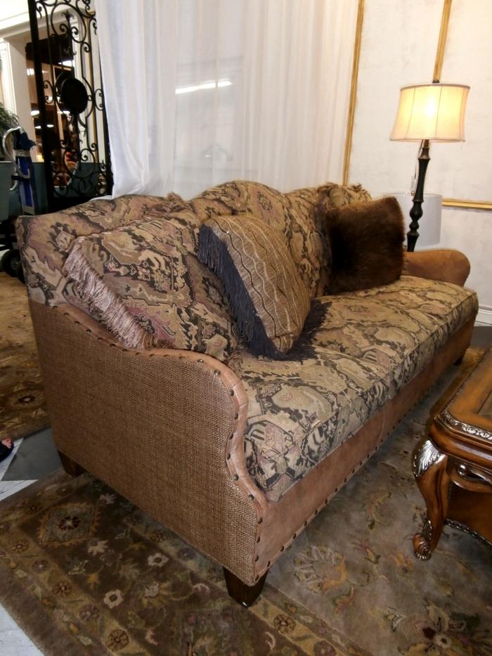 Paul Robert Leather Sofa At The Missing, Paul Robert Furniture