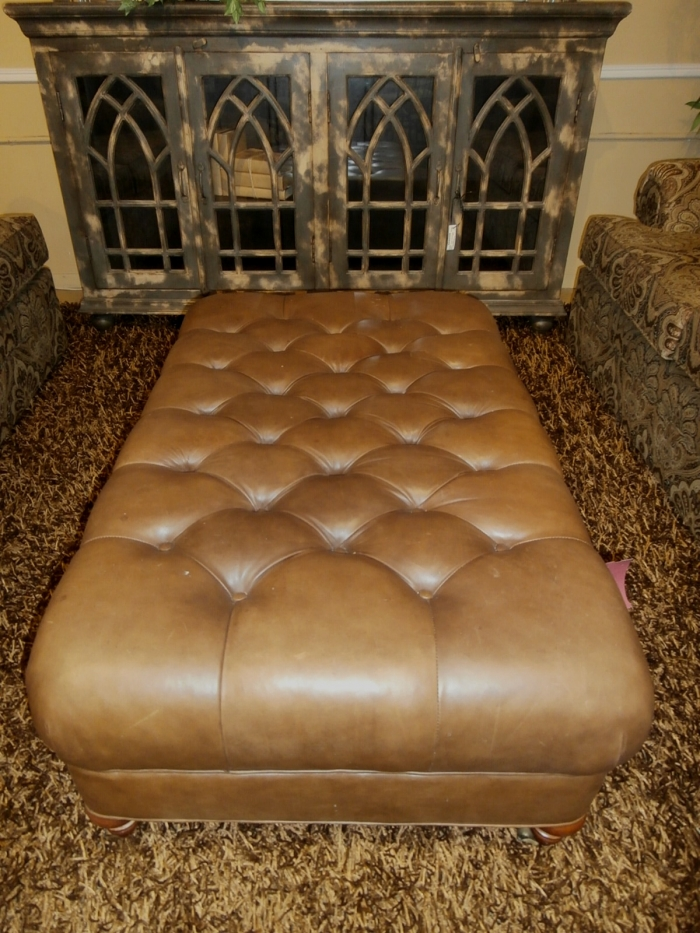 Fantastic Lee Industries Leather Ottoman At The Missing Piece Ibusinesslaw Wood Chair Design Ideas Ibusinesslaworg