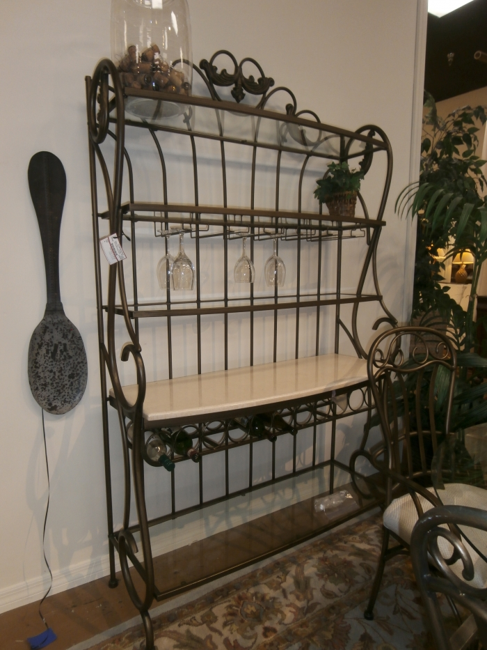 Metal Bakers Wine Rack At The Missing Piece