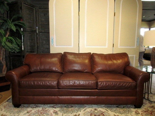 Ethan Allen Leather Sofa at The Missing Piece
