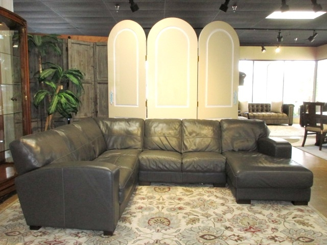 Softline Leather Sectional At The, Soft Line Leather Sofa