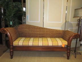 Pottery Barn Rattan Chaise