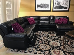 Leather 6 Pc Sectional