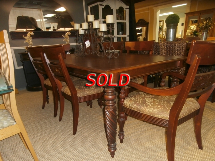 Ethan Allen Dining Table Chairs Pads At The Missing Piece