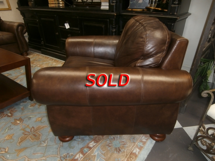 Thomasville Leather Chair At The