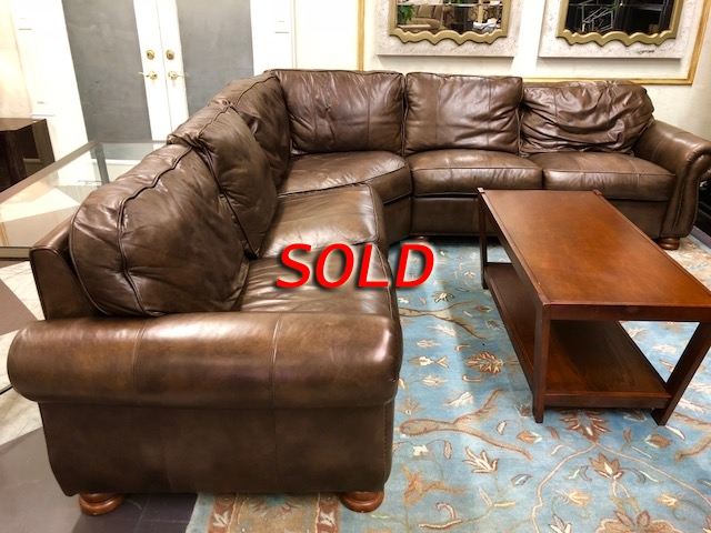 Thomasville Leather Sectional At The