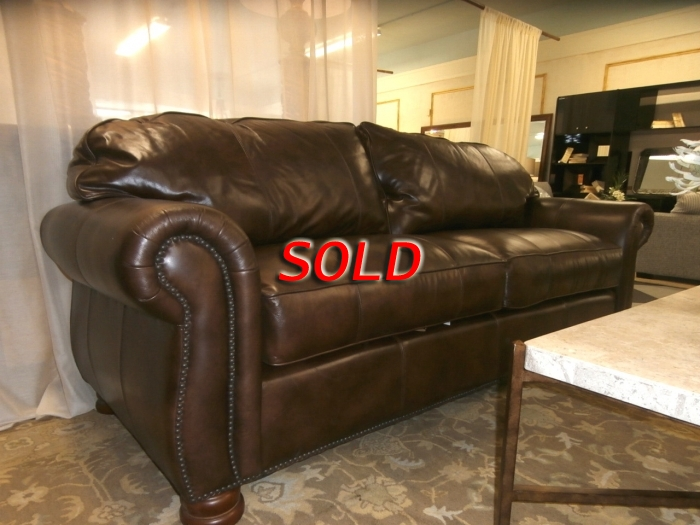 Thomasville Nailhead Leather Sofa At The Missing Piece
