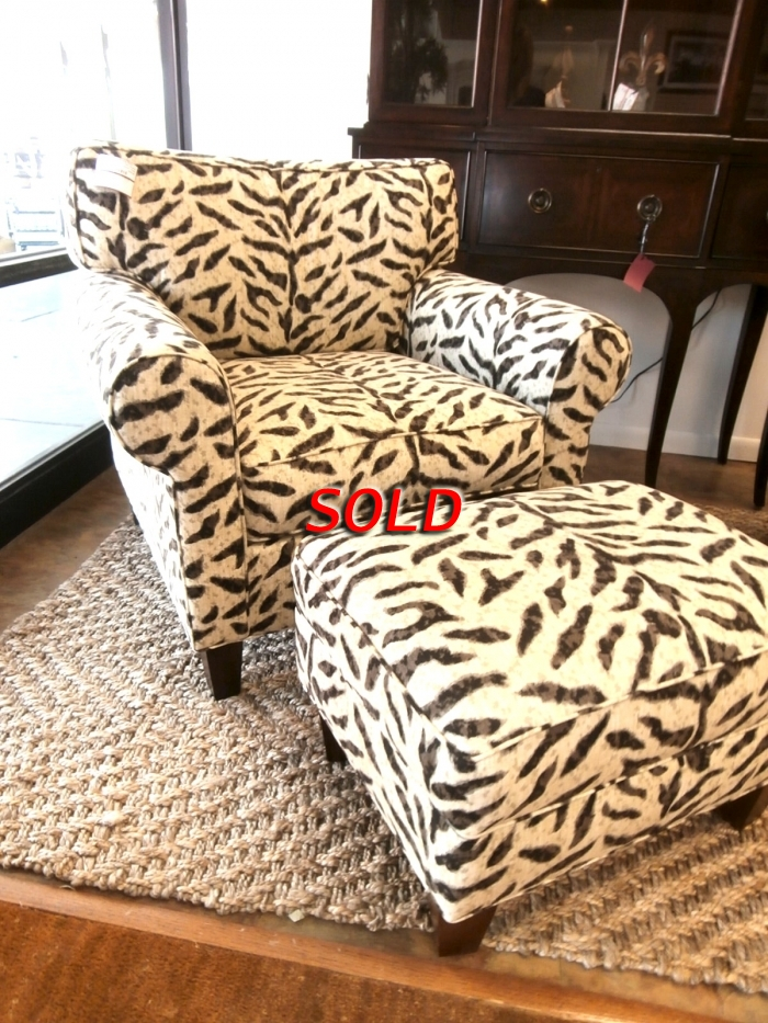 Animal Print Chair Ottoman At The