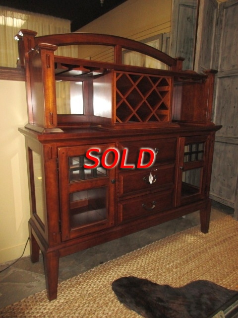 Broyhill Buffet W Wine Rack At The