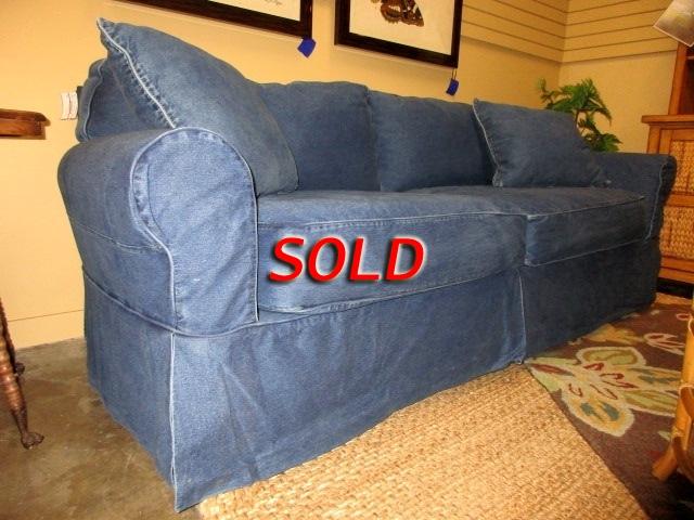 Cindy Crawford Slipcovered Sofa