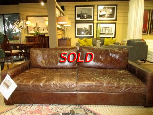 Restoration Hardware Leather Sofa At
