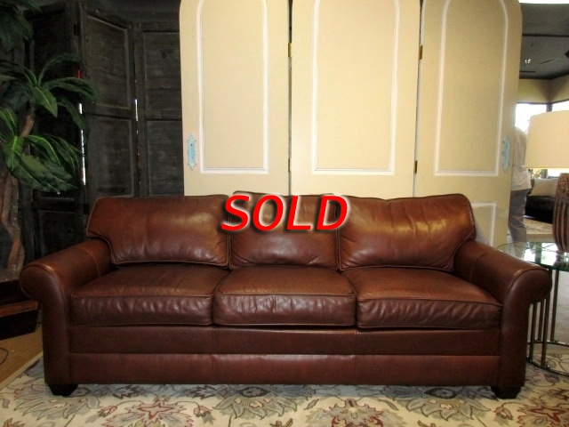 Ethan Allen Leather Sofa At The Missing